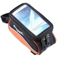 image of CBR 008 EVA OUTDOOR PORTABLE FRONT BEAM BAG POUCH FOR BIKE BICYCLE CYCLING (ORANGE) 5.5 INCH