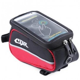 image of CBR 008 EVA OUTDOOR PORTABLE FRONT BEAM BAG POUCH FOR BIKE BICYCLE CYCLING (RED) 4.8 INCH