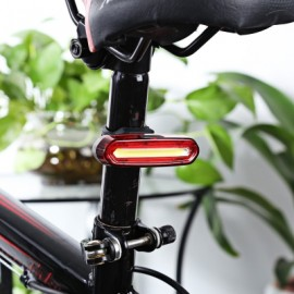 image of CYCLING NIGHT BIKE RECHARGEABLE LIGHT DUAL COLOR FLASHLIGHT FOR MOUNTAIN ROAD BICYCLE (RED) RED LIGHT