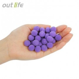 image of OUTLIFE 14MM BAITS WITH SMELL CARP FISHING LURES FLOATING GRAIN (PURPLE) POTATO FLAVOR