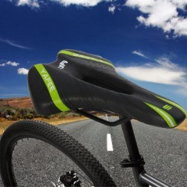 image of YAFEE - 1019 SPORTS BIKE MTB SADDLE RACING BICYCLE HOLLOW SADDLE SEAT (BLACK AND GREEN)