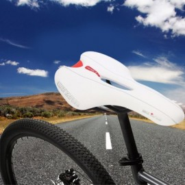 image of YAFEE - 1021 SPORTS BIKE MTB SADDLE RACING BICYCLE HOLLOW SADDLE SEAT (WHITE)