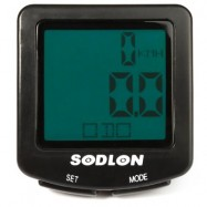 image of SODLON SD - 571 WIRED BICYCLE COMPUTER WATER RESISTANT CYCLING ODOMETER SPEEDOMETER WITH BACKLIGHT (BLACK)