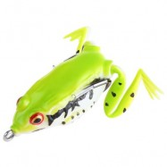 image of FRESHWATER RAY FROG FISHING LURE HOOKS FISH BAIT TACKLEÂ  (NEON GREEN) -