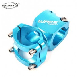 image of WAKE CYCLING MTB BIKE BICYCLE ALUMINUM ALLOY HIGH-STRENGTH SHORT HANDLEBAR STEM (BLUE) 8.40 x 5.00 x 4.40 cm