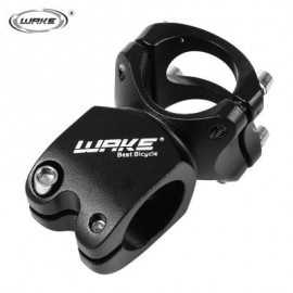 image of WAKE CYCLING MTB BIKE BICYCLE ALUMINUM ALLOY HIGH-STRENGTH SHORT HANDLEBAR STEM (BLACK) 8.40 x 5.00 x 4.40 cm