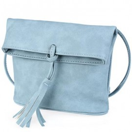 image of TASSEL EMBELLISHMENT BUCKET PATTERN DUAL PURPOSES SHOULDER MESSENGER BAG FOR LADY -