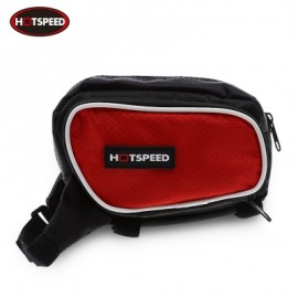 image of HOTSPEED OUTDOOR BICYCLE FRAME TUBE BIKE BAG (RED)