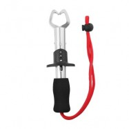 image of BL - 026 STAINLESS STEEL UTILITY FISH GRIPPER FOR OUTDOOR FISHING (RED) -