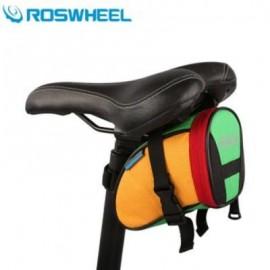 image of ROSWHEEL 1L BICYCLE SADDLE BAG BIKE REPAIR TOOLS PACK POCKET FOR BIKING RIDING CYCLING (COLORMIX)