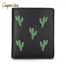 image of GUAPABIEN FOLDABLE SHORT WALLET CLUTCH GIRLS CARD HOLDER (BLACK) -