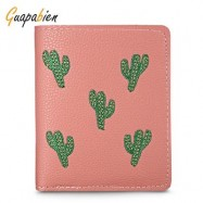 image of GUAPABIEN FOLDABLE SHORT WALLET CLUTCH GIRLS CARD HOLDER (DEEP PINK) -