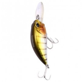image of DW32 60MM TRULINOYA HARD FISHING LURE CRANK ARTIFICIAL BAITS WITH HOOK FISHING GEAR (GOLDEN) DW32 - B