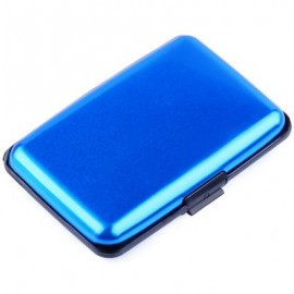 image of UNISEX SOLID PATTERN PLASTIC CARD WALLETS (BLUE) 2 x 7.1 x 10.8 cm