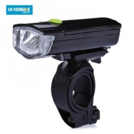 image of LEADBIKE ROAD BIKE BICYCLE FLASHLIGHT FRONT LIGHT LAMP HEADLIGHT (BLACK)
