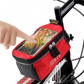 image of JOYTU BICYCLE 5.5 INCH TOUCH SCREEN PHONE SADDLE BAG (RED)