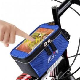 image of JOYTU BICYCLE 5.5 INCH TOUCH SCREEN PHONE SADDLE BAG (BLUE)