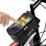 image of JOYTU BICYCLE 5.5 INCH TOUCH SCREEN PHONE SADDLE BAG (BLACK)