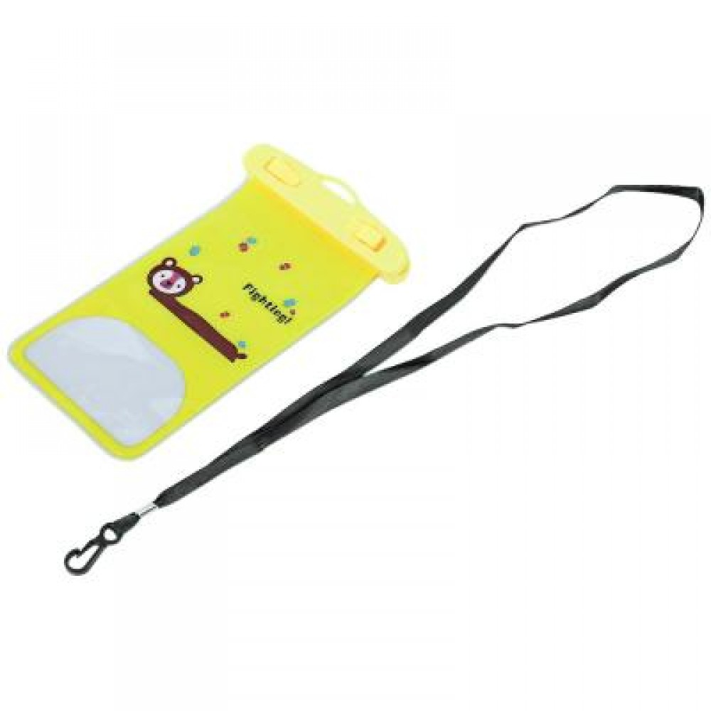 TOUCH SCREEN WATERPROOF PVC DIVING SWIMMING SURFING DRIFTING CELL PHONE POCKET (YELLOW) Bear
