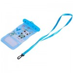 TOUCH SCREEN WATERPROOF PVC DIVING SWIMMING SURFING DRIFTING CELL PHONE POCKET (BLUE, VARIOUS DESIGNS) Happy Panda