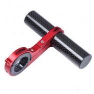 image of OUTDOOR MTB BIKE BICYCLE CARBON FIBER HANDLEBAR BRACKET FLASHLIGHT HOLDER EXTENDER MOUNT (RED)