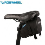 image of ROSWHEEL 1L BICYCLE SADDLE BAG BIKE REPAIR TOOLS PACK POCKET FOR BIKING RIDING CYCLING (BLACK)