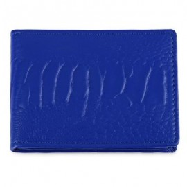 image of SOLID COLOR LEATHER LICENSE CASE (BLUE) -