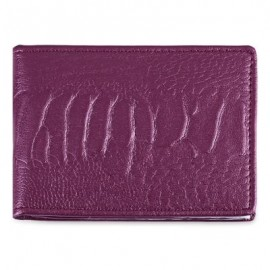 image of SOLID COLOR LEATHER LICENSE CASE (PURPLE) -