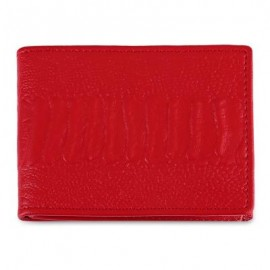 image of SOLID COLOR LEATHER LICENSE CASE (RED) -