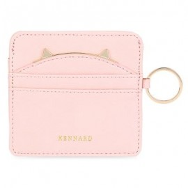 image of GUAPABIEN CUTE EAR PATTERN DECORATION MINI MULTIFUNCTIONAL MULTICARD BIT WRIST WALLET FOR WOMEN (PINK) -