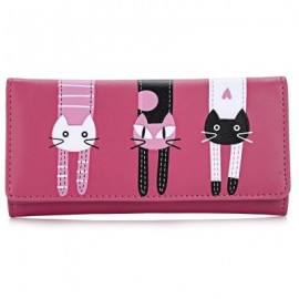 image of GUAPABIEN SWEET CAT SNAP FASTENER LONG HORIZONTAL WALLET FOR GIRL (RED) ??