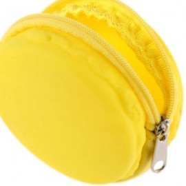 image of ROUND SOLID ZIPPER DESIGN UNISEX CHANGE PURSE (YELLOW) 7.5cm x 7.5cm x 4cm