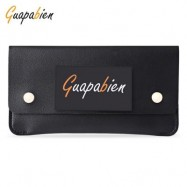 image of GUAPABIEN CONCISE DESIGN RIVET ELEMENT LEATHER LONG WALLET (BLACK) -