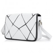 image of GUAPABIEN WATER CUBE PATCHWORK COVER SHOULDER MESSENGER BAG FOR LADY HORIZONTAL