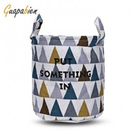 image of GUAPABIEN FOLDABLE WATER RESISTANT STORAGE LAUNDRY BASKET (COLORMIX) TRIANGLE