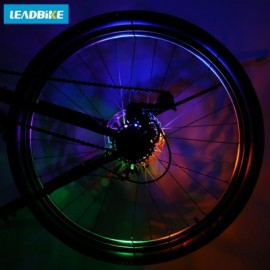 image of LEADBIKE CYCLING BICYCLE WATERPROOF REAR FRONT HUB WARNING SPOKE LIGHT BIKE ACCESSORIES (COLORMIX)