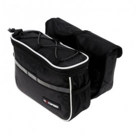image of MOUNTAIN BIKE BICYCLE HANDLEBAR BAG FOLDING POUCH (BLACK)