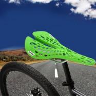 image of YAFEE - 1011 SPORTS BIKE MTB SADDLE RACING BICYCLE HOLLOW SADDLE SEAT (GREEN)