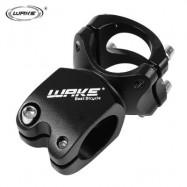image of WAKE CYCLING MTB BIKE BICYCLE ALUMINUM ALLOY HIGH-STRENGTH SHORT HANDLEBAR STEM (BLACK)