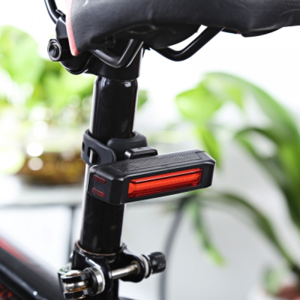 CYCLING NIGHT BIKE RECHARGEABLE LIGHT FOR MOUNTAIN ROAD BICYCLE (RED)