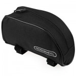 ROSWHEEL PORTABLE OUTDOOR MOUNTAIN BICYCLE CYCLING FRAME FRONT TOP PVC TUBE BAG BIKE POUCH (BLACK)