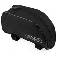image of ROSWHEEL PORTABLE OUTDOOR MOUNTAIN BICYCLE CYCLING FRAME FRONT TOP PVC TUBE BAG BIKE POUCH (BLACK)