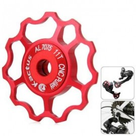 image of KACTUS CNC 11T JOCKEY WHEEL REAR DERAILLEUR PULLEY ALLUMINUM ALLOY BIKE PARTS FOR SHIMANO SRAM (RED)