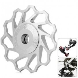 image of KACTUS GUIDE ROLLER WHEEL REAR DERAILLEUR PULLEY FOR SHIMANO SRAM / 7 / 8 / 9 / 10 SPEED (SILVER)