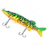 image of PROBEROS OUTDOOR FISHING LURES CRANK BAIT WITH 2 HOOK (COLORMIX) COLOR D