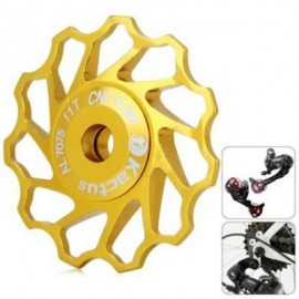 image of KACTUS GUIDE ROLLER WHEEL REAR DERAILLEUR PULLEY FOR SHIMANO SRAM / 7 / 8 / 9 / 10 SPEED (GOLDEN)