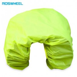 image of ROSWHEEL BICYCLE REAR SEAT CARRIER BAG RAIN COVER PROTECTOR (NEON GREEN)