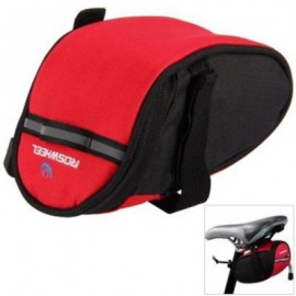 image of ROSWHEEL 13567 BIKE BICYCLE CYCLING SADDLE BAG REAR TAIL BACK SEAT FASHION POUCH BAG FOR MOUNTAIN BIKE OUTDOOR (RED)