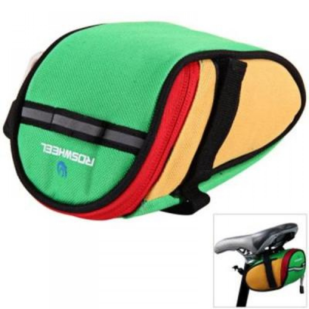ROSWHEEL 13567 BIKE BICYCLE CYCLING SADDLE BAG REAR TAIL BACK SEAT FASHION POUCH BAG FOR MOUNTAIN ...