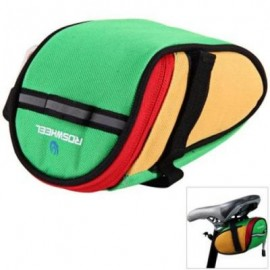 image of ROSWHEEL 13567 BIKE BICYCLE CYCLING SADDLE BAG REAR TAIL BACK SEAT FASHION POUCH BAG FOR MOUNTAIN BIKE OUTDOOR (GREEN)